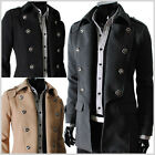 (SDC) TheLees Mens Double Breasted 2 Way Slim Fit Wool Dress Jjacket