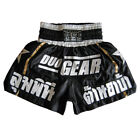new BLACK DUO STARS MUAY THAI KICKBOXING BOXING SHORTS