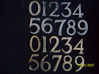 """3""""/75MM HOUSE DOOR NUMBERS NUMERALS BRASS/CHROME"""