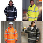 CLEARANCE Hi Viz MOTORWAY COAT JACKET YELLOW ORANGE BLACK NAVY