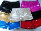 Shiny Metallic Wet Look & Plain Hot Pants Shorts