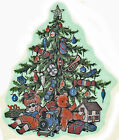 Ceramic Decals Christmas Tree Toys Bear Doll Train