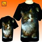 Kittens Cats Cute animal Moon Cat T Shirt Top NEW