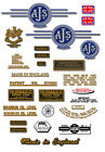 1961-63: 7R,8,14,14CS,14S,16, 16S, 18S,18CS -AJS DECALS