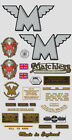 1953-54: Matchless Decals -RESTORERS DECAL SET