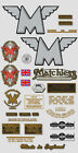 1949-52: Matchless Twin -G9 DECAL SET- G9 Twin Decals