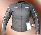 NEW LADIES TWIN RK MATT BLACK MOTORCYCLE LEATHER JACKET