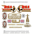 BSA Bantam Decals - 1949-71: Decalsets for all models