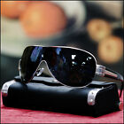 NEW MENS SHIELD SUNGLASSES FULL RIM SPORTY SHADES BLACK
