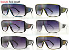 Wrap Around Mens Designer Sunglasses Shades Smoke Lens