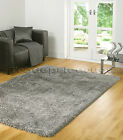 MED - EXTRA LARGE SILVER GREY MIX, X THICK SHAGGY RUG