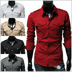 Mens premium slim fit Stretchy Dress Shirts Collection