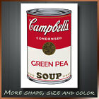 Andy Warhol Green Pea Soup Pop Art Artist Printing Canvas Box Ready To Hang