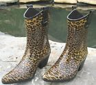 Girls Tonto Cowboy Western Rain Boots Cheetah Print Corkys Size Choice SM to XL