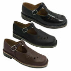 Girls School Shoe T Bar Black Smooth or Hi Shine Shoes Leather Sizes 9-2 New