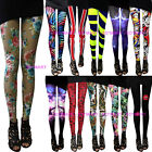 Women Rock Punk Funky Pattern Sexy Lycra Spandex Leggings Pants