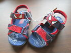 NEW Toddler Buster Brown Spiderman Spider Sense Sandals Shoes Blue Red H&L