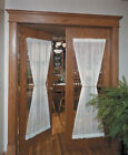 """Heritage Lace Sheer Divine Door Panel 42"""" x 63""""- Colors: Ecru, Flax and White"""