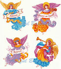 Ceramic Decals Inspirational Angels  4 Designs ALLELUIA  PEACE ON EARTH  REJOICE