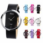 Lady Women Fashion Colorful Transparent Dial Sport Quartz Wrist Watch Gift