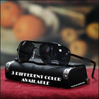 NEW MENS AVIATOR SUNGLASSES PILOT DRIVING BIKER VINTAGE 3 COLOR BLACK SHADES