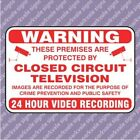 200x150 CCTV 24 Hour Recording Security Sign - White (11156) - FREE POSTAGE