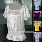 NEW Women's Ladies 100% Pure Silk Charmeuse Tank Top Silk Blouse Shirts AF058