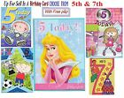 5th or 7th Birthday Card Boy Girl Buyer Pick Design Free P&P Within UK Mainland