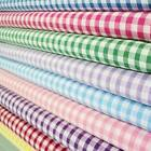 1/8TH POLYCOTTON CORDED GINGHAM FABRIC - PER METRE ALL COLOURS FAVOURITE FABRICS