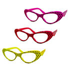 1950s Polka Dot Cat Eye Glasses (Sock Hop Party Costume Poodle Skirt Accessory)
