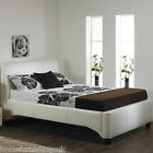 "LUXURY Michaela 3ft 6"" Large Single HAND MADE FAUX LEATHER BED FRAME FreeNextDay"