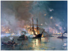 Decor War Scene in the Ocean Poster. Fine Graphic Art. Home Wall Design. 1282