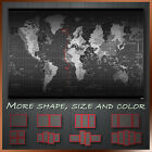 Map of World Time Zone Abstract Art Canvas Deco More Color & Style & Size