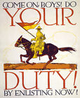 Do your duty enlist now Decor Poster. Graphic Art. Wall Interior Design. 2159