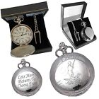 Engraved Pocket Watch Man with Gun Dog Shooting Hunting Gift -  Present