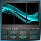 MODERN ABSTRACT ART Teal Smoke Canvas Art Deco ~ More Size
