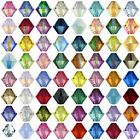 50 Swarovski Crystal 5328 Xilion Bicone Beads 4mm All Colours