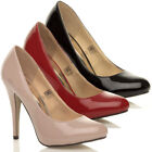 WOMENS LADIES HIGH HEEL CONCEALED PLATFORM CLASSIC COURT SHOES PUMPS SIZE