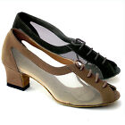 "Women's Ballroom Salsa Latin Practice Nubuck Dance Shoes 1644 Very Fine 2"" Heel"