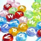 100 pieces 6.5mm Assorted colours Individual Alphabet Letter Beads A-Z