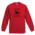 Anything Your Dog My Chihuahua Can Do Design Printed Red FOTL Sweatshirt