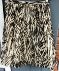 Talbots PLUS SIZE 100% Cotton Animal Print Pleats Lined Skirt LITEWEIGHT $109NWT