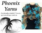 FLAMENCO Loopy/Holey SCARF Yarn Wool COLOUR CHOICE Frilly Can can Ruffle Ribbon