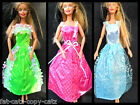 BARBIE SINDY DOLL CLOTHING OUTFIT 10 LONG BALL GOWN WEDDING DRESSES UK SELLER