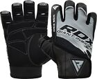 RDX Ultimate Weight Lifting Body Building Gloves Gym Leather Training Strap Grip