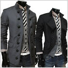 (SDJ) THELEES Mens casual Double Breasted 2 Way fitted jacket blazer coat