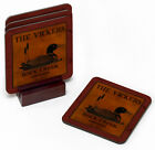 PERSONALIZED CABIN COASTERS - 9 DESIGNS  HUNTING CAMP CABIN LAKE - FREE SHIPPING