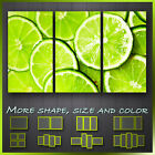 ' Summer Fruit Lime Slice Refeshing Kitchen Art ' Modern Wall Art Deco Canvas