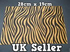 LARGE FURRY FABRIC BROWN ZEBRA PRINT CRAFT MOBILE SKIN DECAL STICKER 28cmx19cmUK