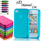 NEW STYLISH CUBE SERIES CASE COVER FITS IPHONE 4 4S SCREEN PROTECTOR